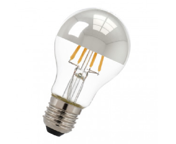 Bailey A60 LED filament kopspiegellamp 6 (50) Watt E27 zilver