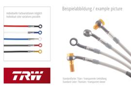 TRW Lucas Steel flex set MCH233V3, voorzijde Stalen remleiding set