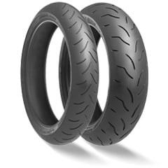 Banden Bridgestone BT016 pro 120/70-17 en of 180/55-17