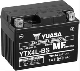 Accu YUASA YTX4L-BS art. no 10 20011