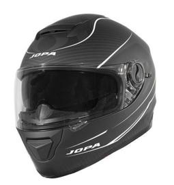 Helm Jopa Drifter matt  zwart / wit met zonne vizier