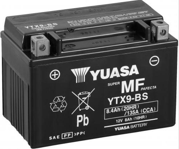 Accu YUASA YTX9-BS art.no 10 20205