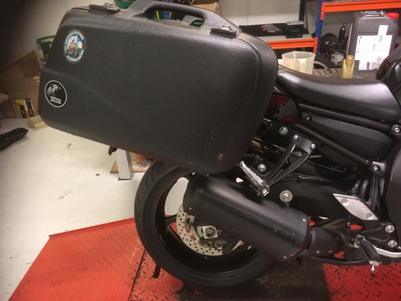 Gebruikte Zij-kofferset Hepco & Becker met beugels voor Yamaha FZ8 2011-2015