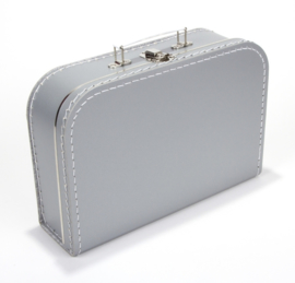 Koffertje 30cm grijs
