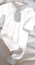 Babypakje dasje grijs