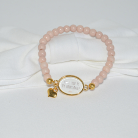 Armbandje roze Will you be my Bridesmaid?