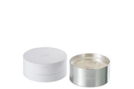 Geurkaars zilver luxedoos J-Line 11x11x7