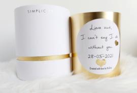 Geurkaars goud luxedoos J-Line 9x9x12