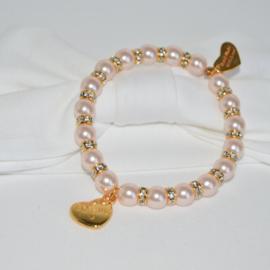 Armbandje roze Mom