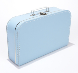 Koffertje 35cm lichtblauw