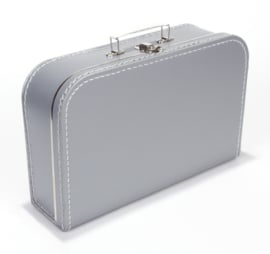 Koffertje 35cm grijs