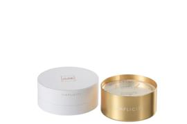 Geurkaars goud luxedoos J-Line 11x11x7