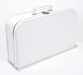 Koffertje 35cm wit