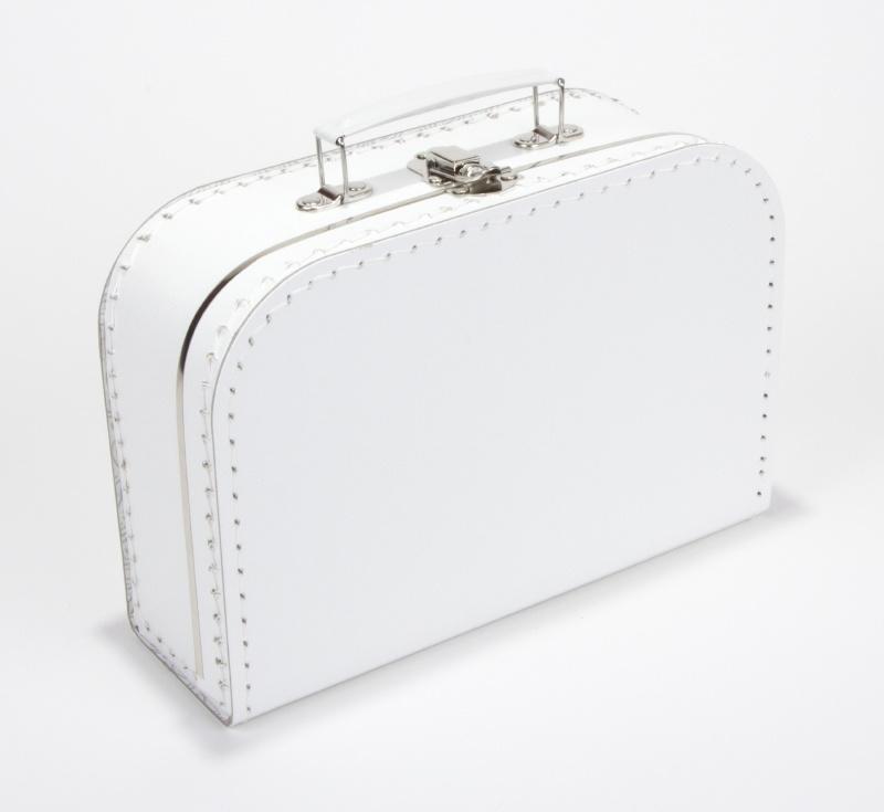 Koffertje 25cm wit