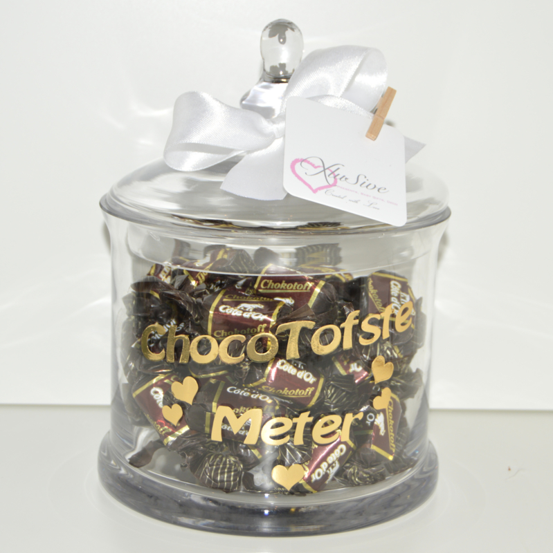 Snoeppot Wil jij mijn Chocotoffe Peter/Meter worden