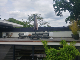 Oprolbaar windscherm Inova geheel vrijstaand