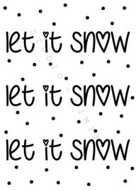 KAART LET IT SNOW LET IT SNOW LET IT SNOW
