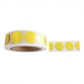 WASHI TAPE - DOTS GOLD