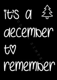 KAART IT'S A DECEMBER TO REMEMBER