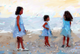 Meisjes in blauw