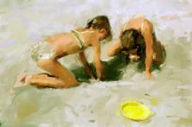 Spelen in zand