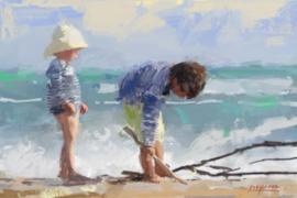 Spelen aan zee