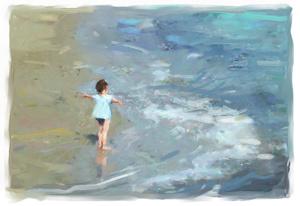 Kind aan zee