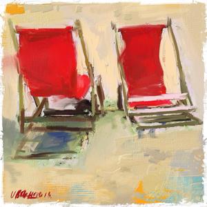 Strandstoel rood