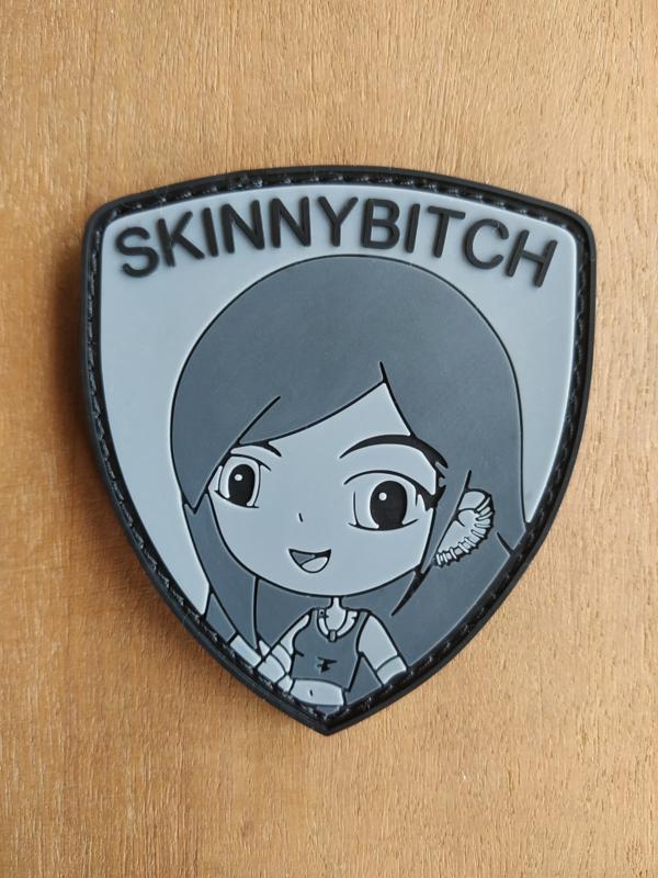 SkinnyBitch patch grey