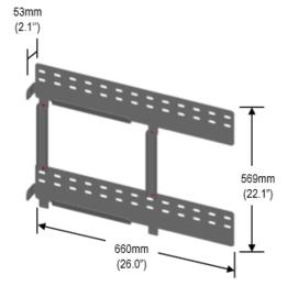 Wall Mount Plate Resu geschikt voor de 3.3  en  6.5