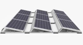 Compleet DHZ pakket a  6 panelen met toebehoren tbv platdak 1-fase (1585 Kwh)
