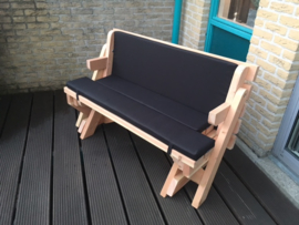 Kussenset voor de bank en picknicktafel 2 in 1 standaard model Luxe