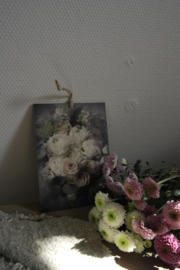 Decobordje rozen wit || met ophanglus