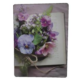 Bordje Paars-roze bloemen