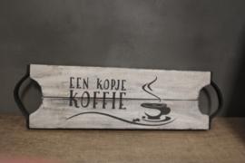 Dienblad een kopje koffie