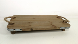 plank met beslag+ handgrepen fero