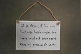Hangers met tekst