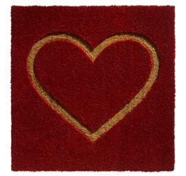 Mat rood met hart