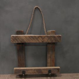 Hanger hout met 2 haken