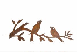 Schroef vogels 2 op takje | Ecoroest | Iron Art