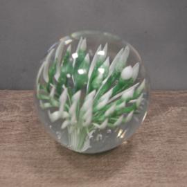 Ornament flower glas groen