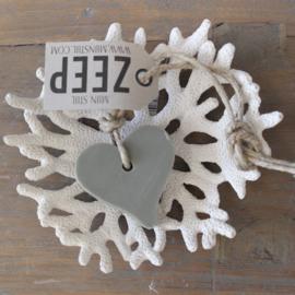 Mijn Stijl zeephanger hart || vergeten groen/grijs || Herbal meleze