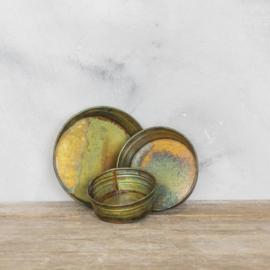 Metalen tray set van 3