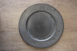 Plastic plate grey 33 cm
