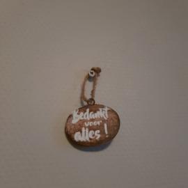 Hanger ovaal mini bedankt voor alles!