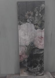boeket roze deco bord 20x55