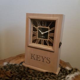 sleutelkast met klok