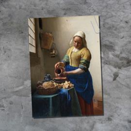 Ansichtkaart - Het melkmeisje