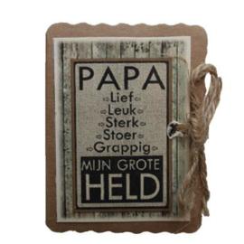 Papa mijn grote held