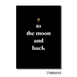 ♡to the moon and back || Ansichtkaart || Miek in Vorm